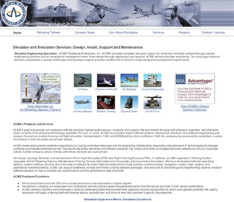 Military and Commercial Simulation and Training ACME Worldwide Enterprises - International Client