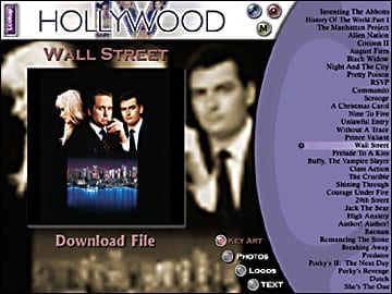 Fox's Hollywood Movie CD-ROM Interface
