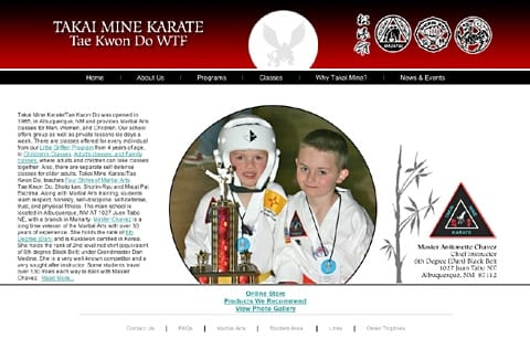 Takai Mine Karate Tae Kwon Do School New Mexico