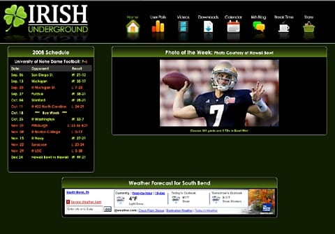 The Irish Underground Notre Dame Fan Site