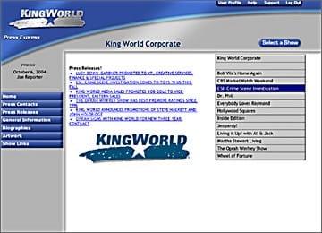 Kingworld Website Corporate Content Management Area