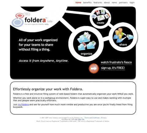 Cloud Based File Sharing Service Foldera - National Client