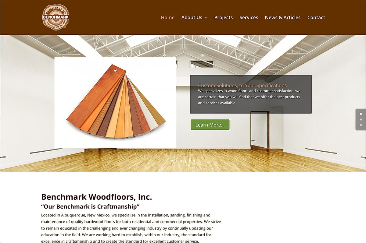Benchmark Woodfloor - Website Design | Maintenance | Hosting | SEO