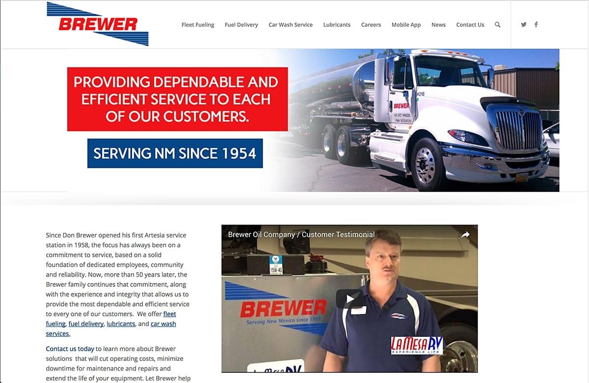 Brewer Oil - Website SEO