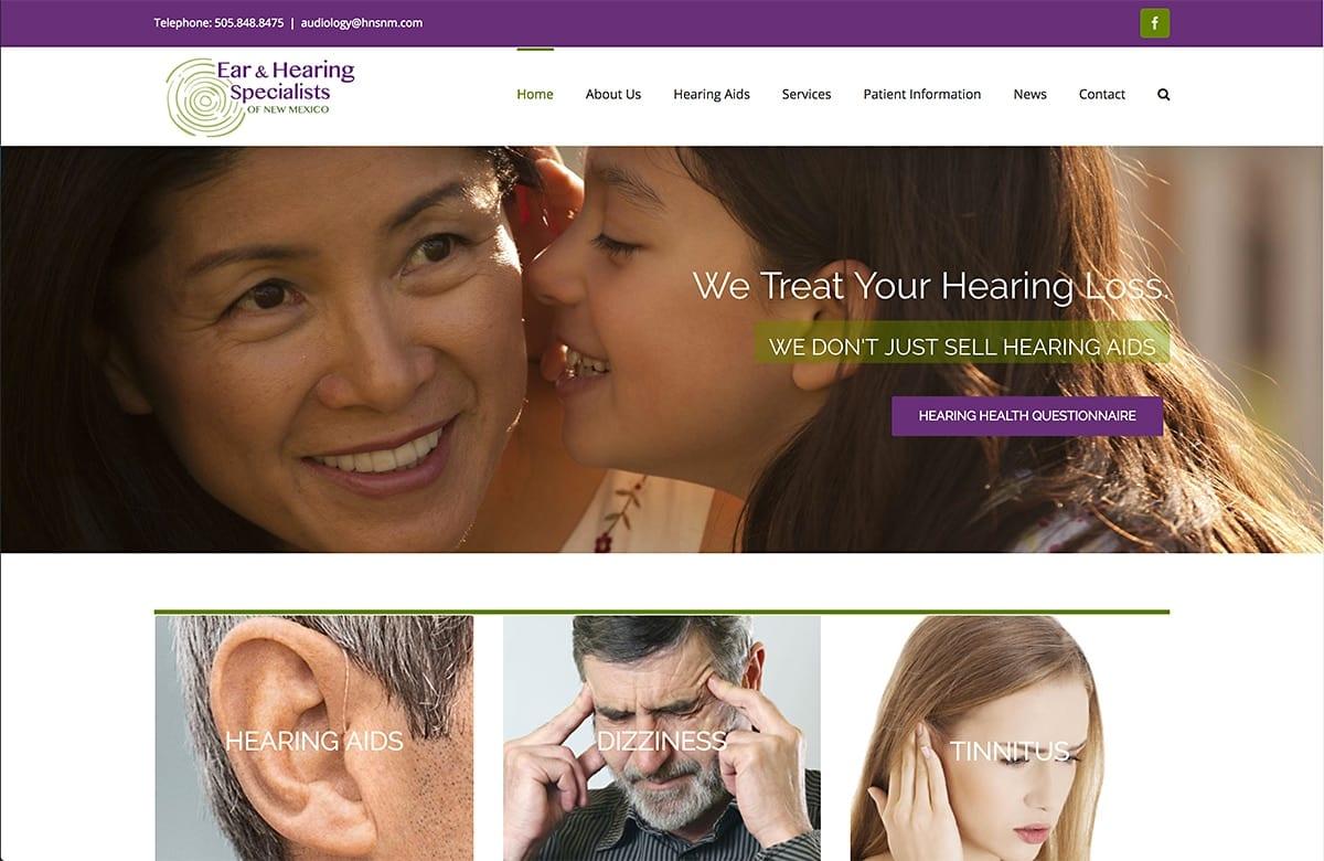 NM Ear and Hearing - Website SEO