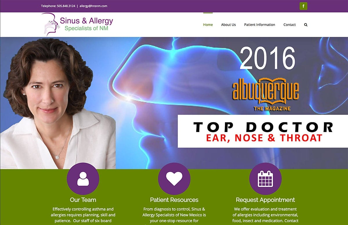 NM Sinus Allergy - Website SEO