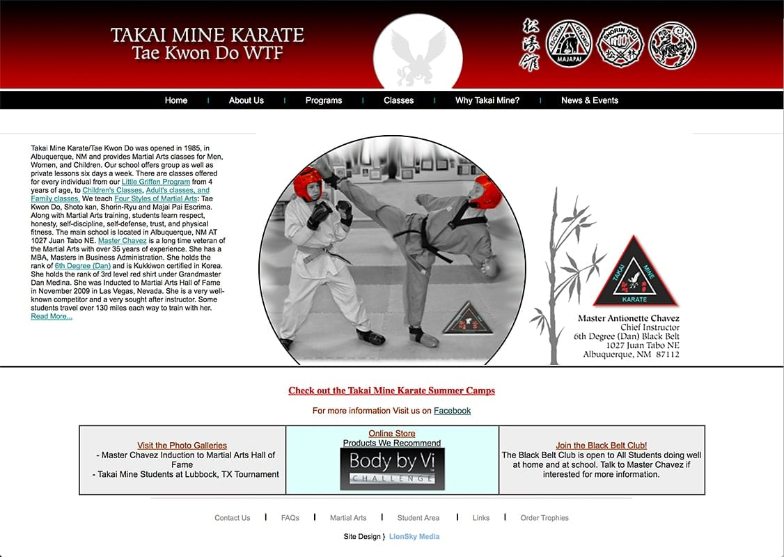 Takaimine Karate - Website Design | Maintenance | Hosting