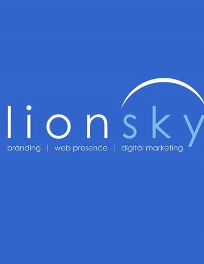 LionSky on Blue