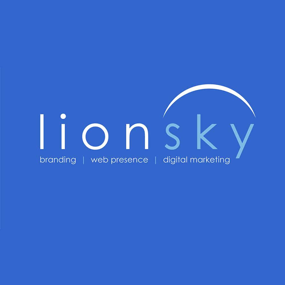 LionSky on Blue