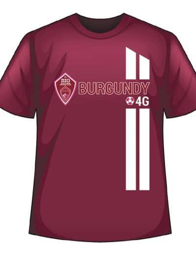 Rio Rapids Sc Team Burgundy Shirt
