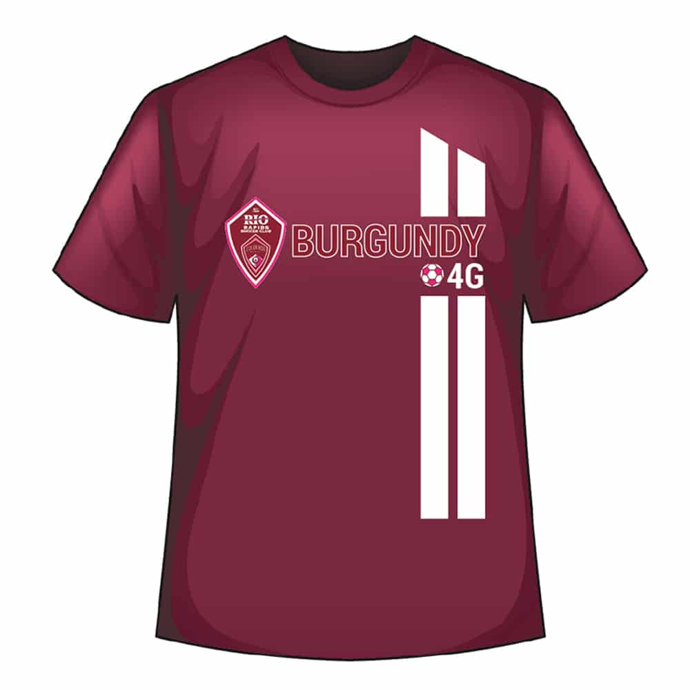 Rio Rapids Sc Team Burgundy Shirt