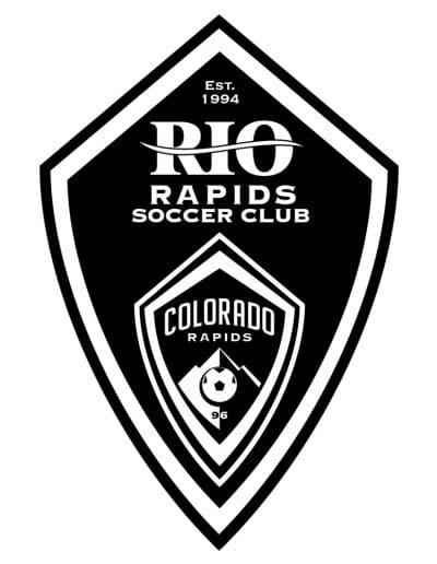 Rio Rapids Soccer Club - Black and White