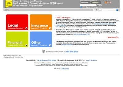 Cancer Services NM - Website Design | Maintenance | Hosting