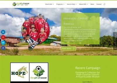 The Gift of Soccer - Website Design | Maintenance | Hosting