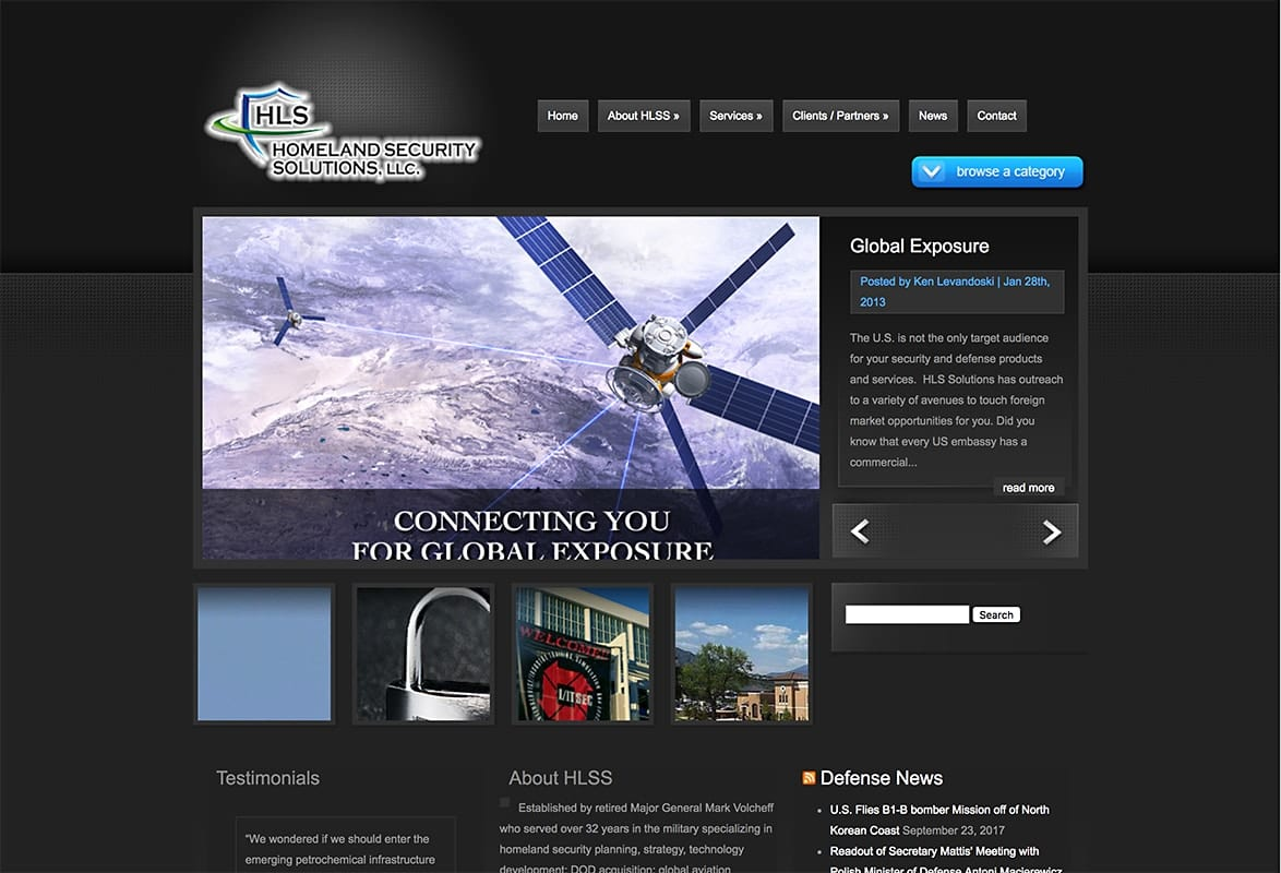 Homeland Security  - Website Design | Hosting