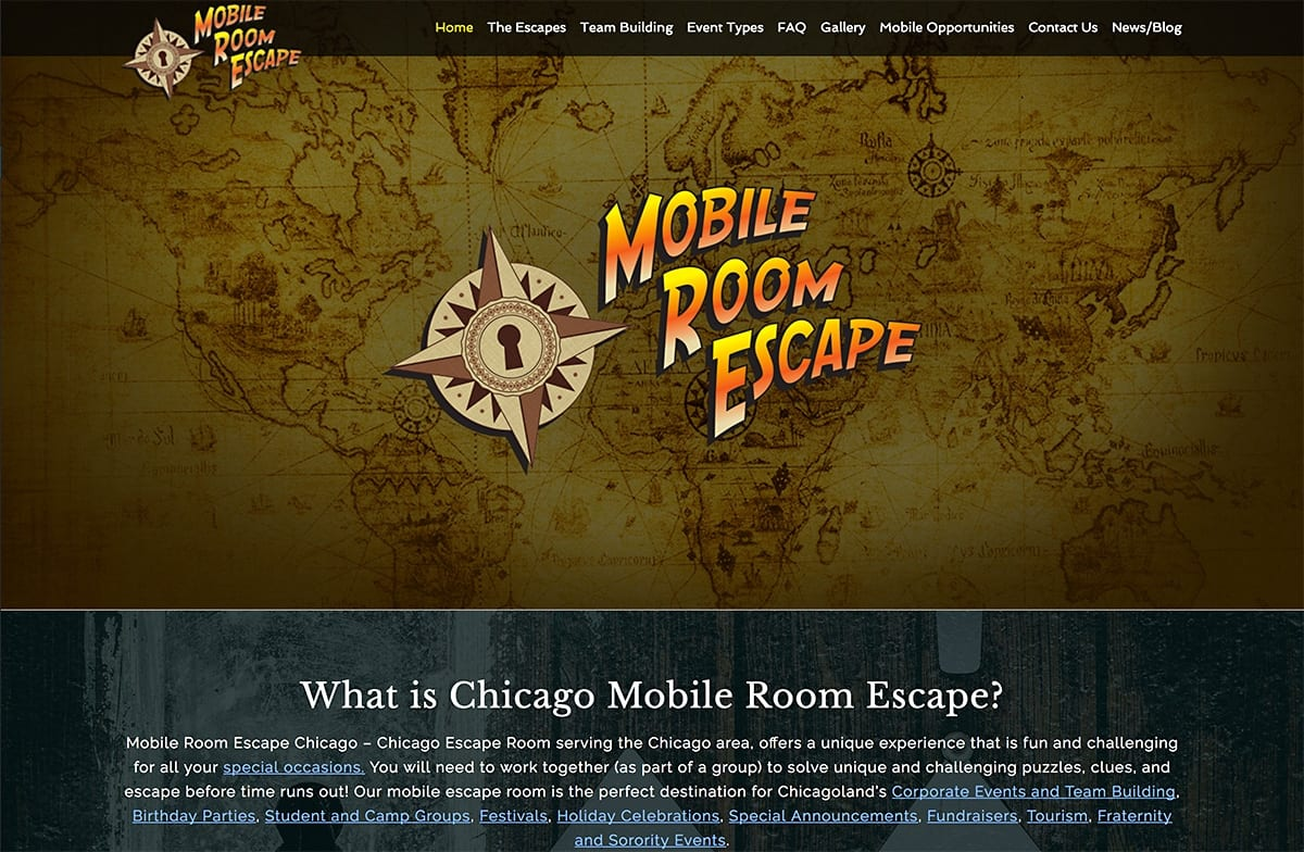 Mobile Room Escape - Website SEO | Social Media