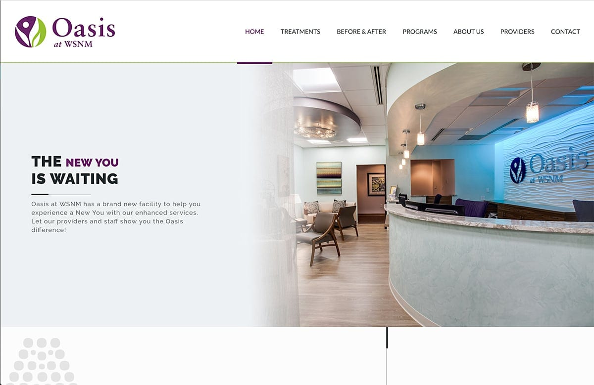 Oasis Med Spa - Website SEO