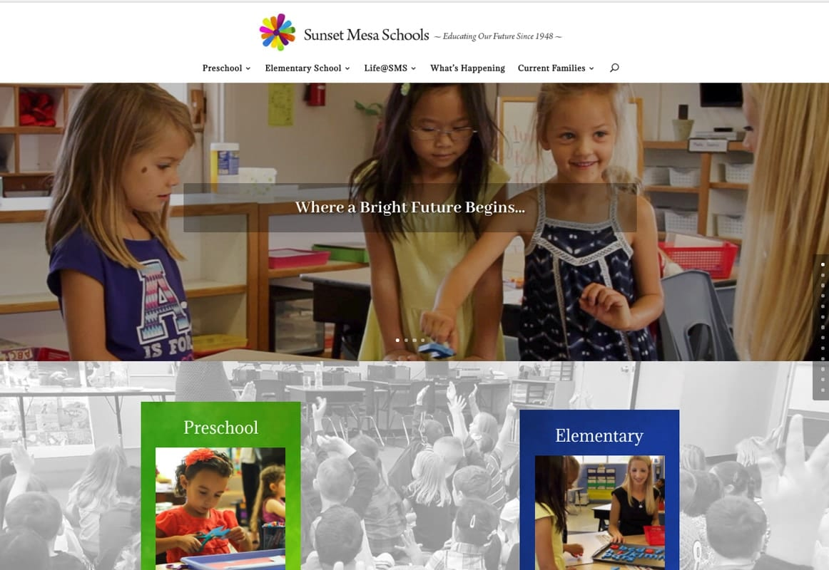 Sunset Mesa School - Website Design | Maintenance | Hosting | SEO