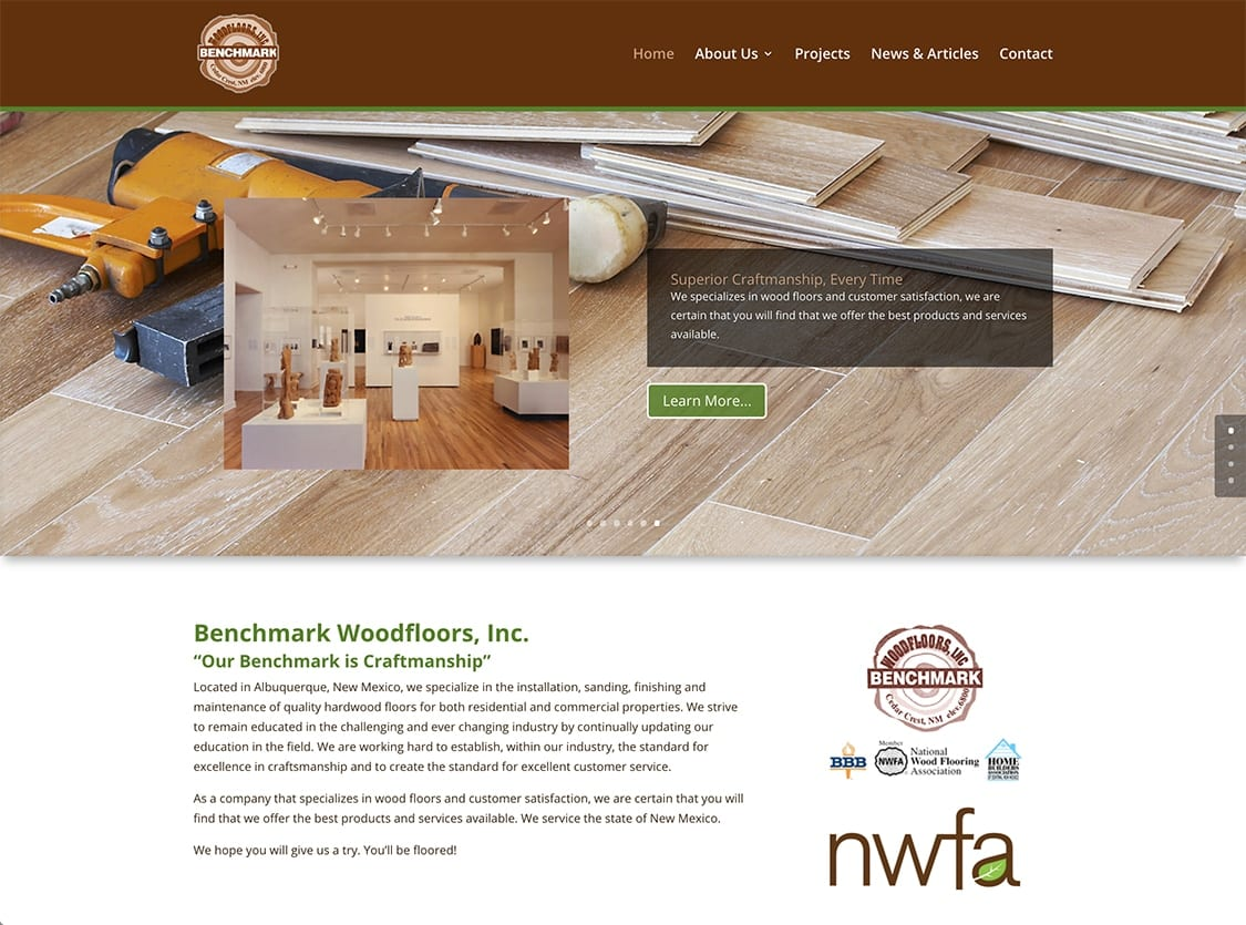 Benchmark Woodfloors - Website Design | Maintenance | Hosting | SEO