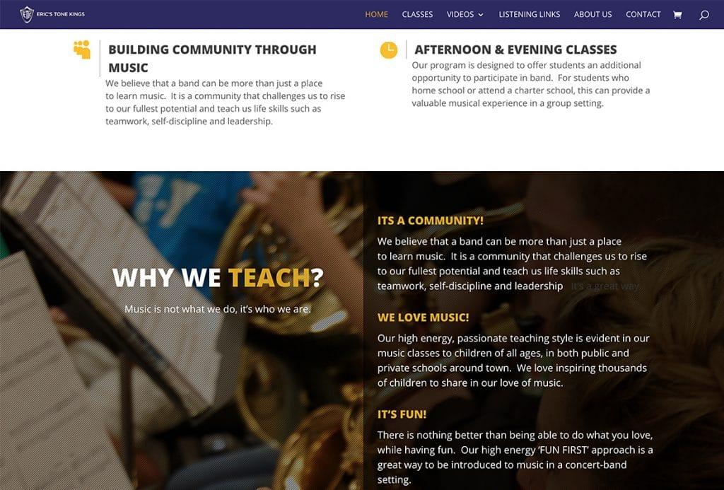 Eric's Tone Kings - Website Design | Maintenance | Hosting