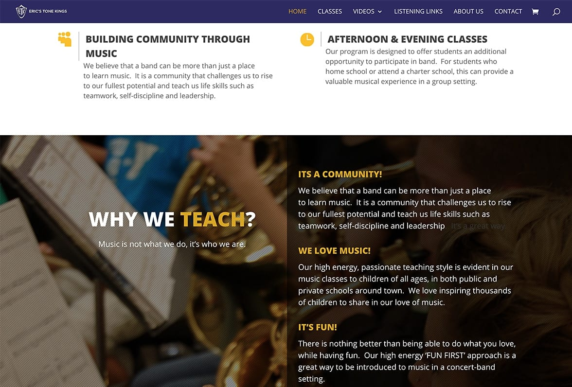 Website Designs 12 LionSky Websites Erics Tone Kings Bands
