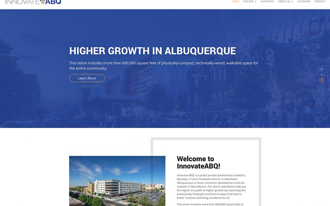 Congratulations InnovateABQ on Your Website!
