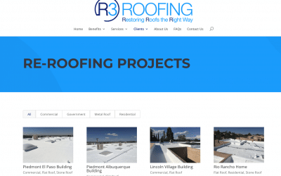 Congratulations R3 Roofing on Your Website!