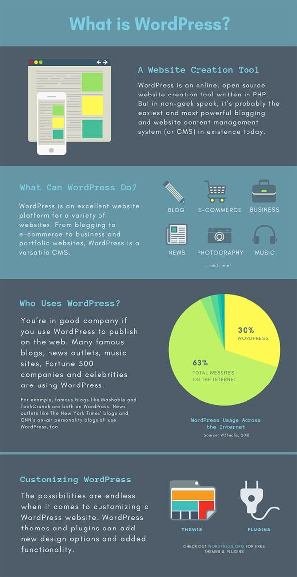 WordPress Website Design Infographic