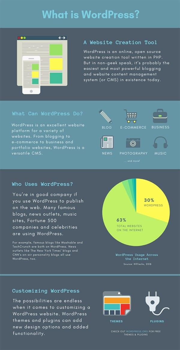 WordPress Website Design Infographic
