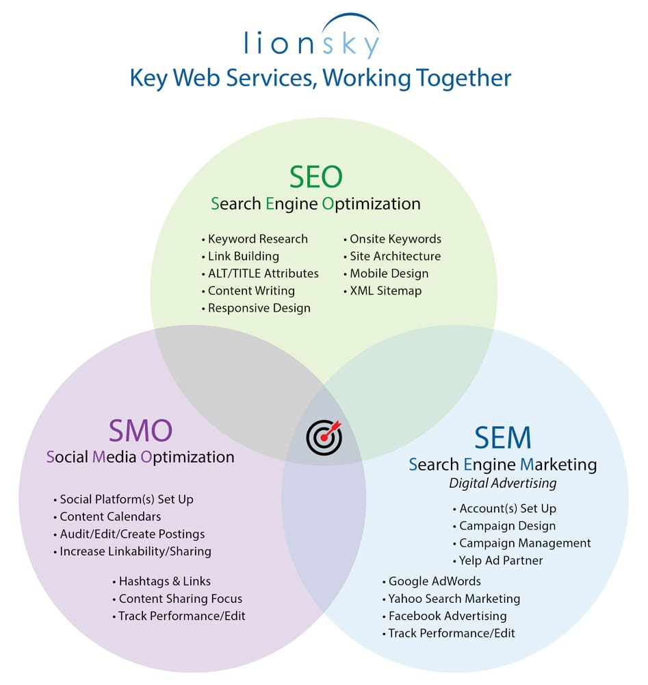Website SMM 2 LionSky SEO SEM SMO Circle Graphic 022519