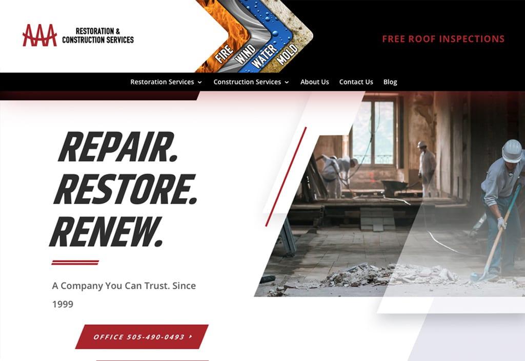 Website Designs 20 AAA Restoration3 1024x705 1