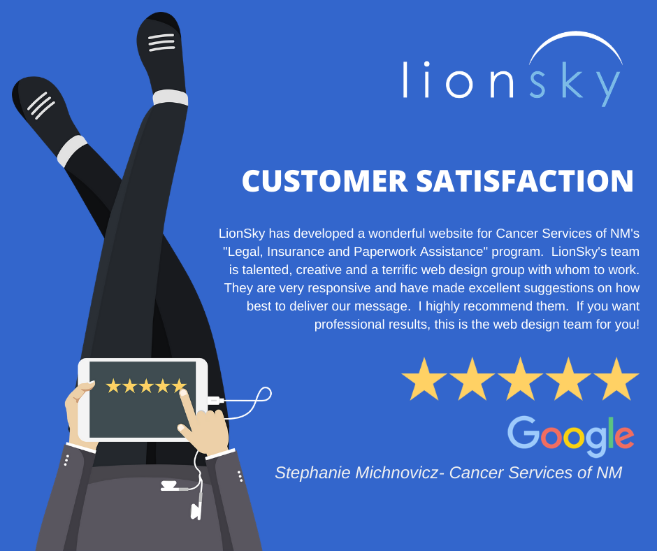 LionSky Customer Testimonials LIonSky Social Media Graphic