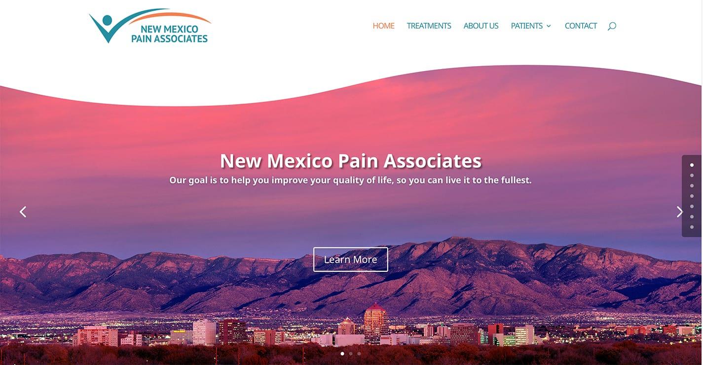 NM Pain Associates - Albuquerque- New Website Launch! 1 NMPainAssociatesWebsite