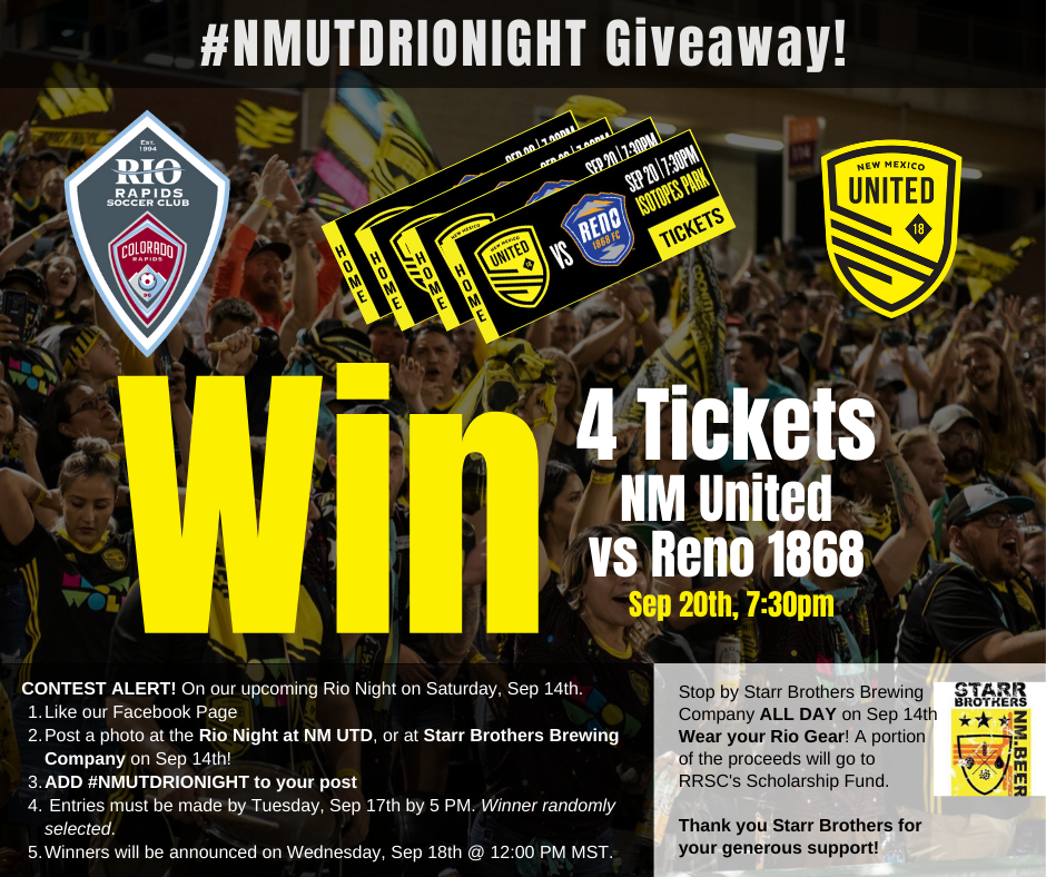 Rio Rapids NM United Night Giveaway LIonSky Social Media Graphic