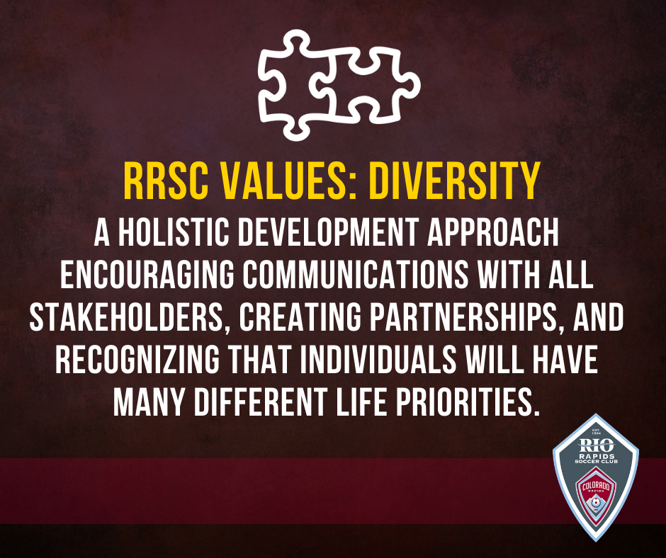 Rio Rapids Soccer Club Values LIonSky Social Media Graphic