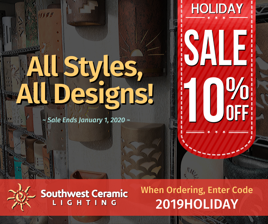 Southwest Ceramic Lighting Coupon LIonSky Social Media Graphic