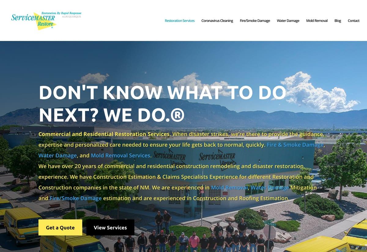 Website Designs 21 SantaFeServiceMasterWebsiteSnap