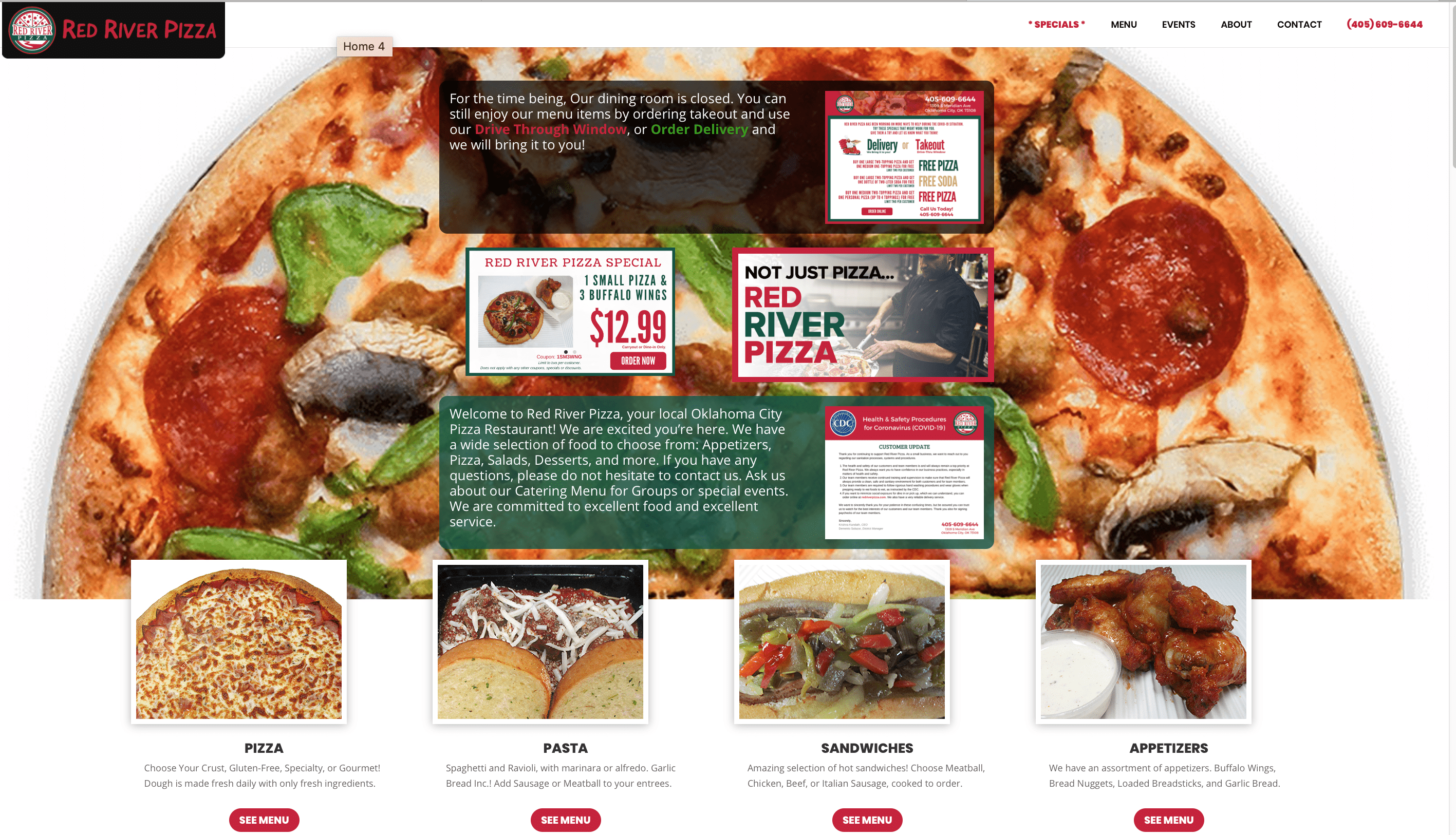 Red River Pizza - Oklahoma City - Website Launch! 1 Screen Shot 2020 04 04 at 9.44.30 AM