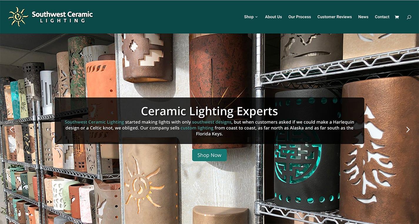 Congratulations Southwest Ceramic Lighting on your New Website Launch! 1 SouthwestCeramicLightingWebsite