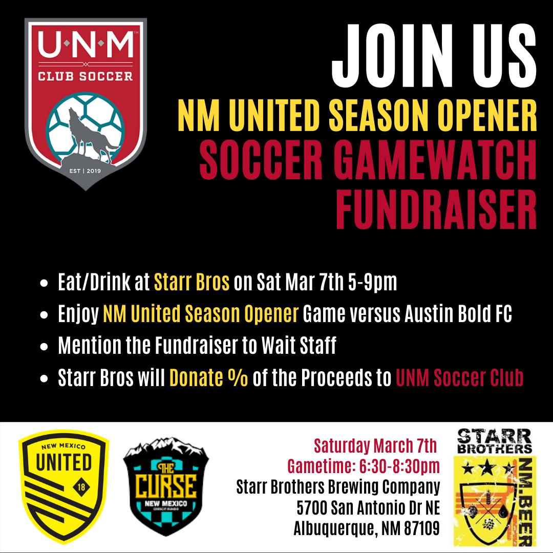 UNM Soccer Club Fundraiser LIonSky Social Media Graphic