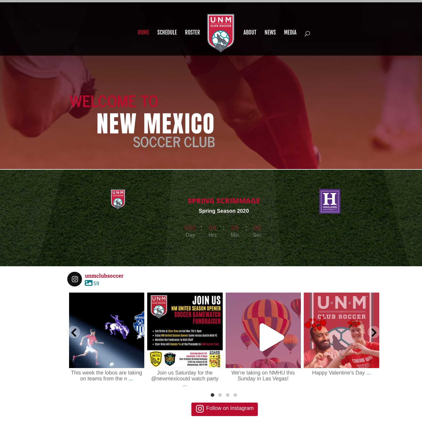 UNM Mens Soccer Club - New Website Launch! 1 UNMMensSoccerClubWebsite