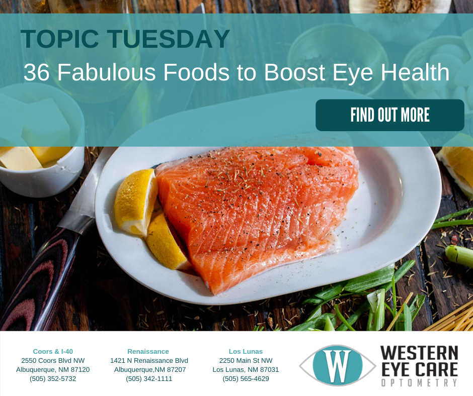 Western Eye Care Topic Tuesday LIonSky Social Media Graphic
