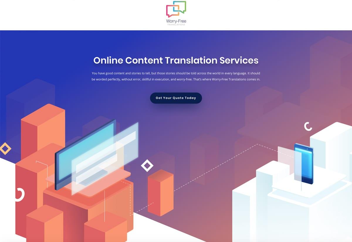 Website Designs 24 WorryFreeTranslationsWebsiteSnap
