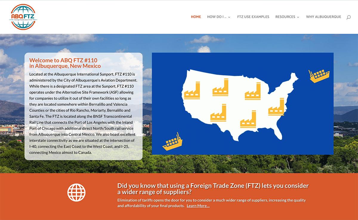 Client Websites 2 ABQFTZ Website Snap