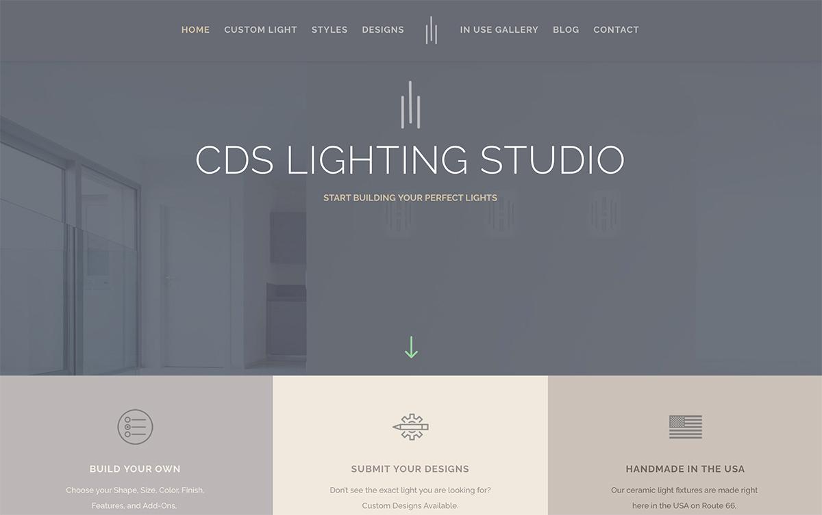 Website Designs 31 CDS Lighting Studio Website Snap