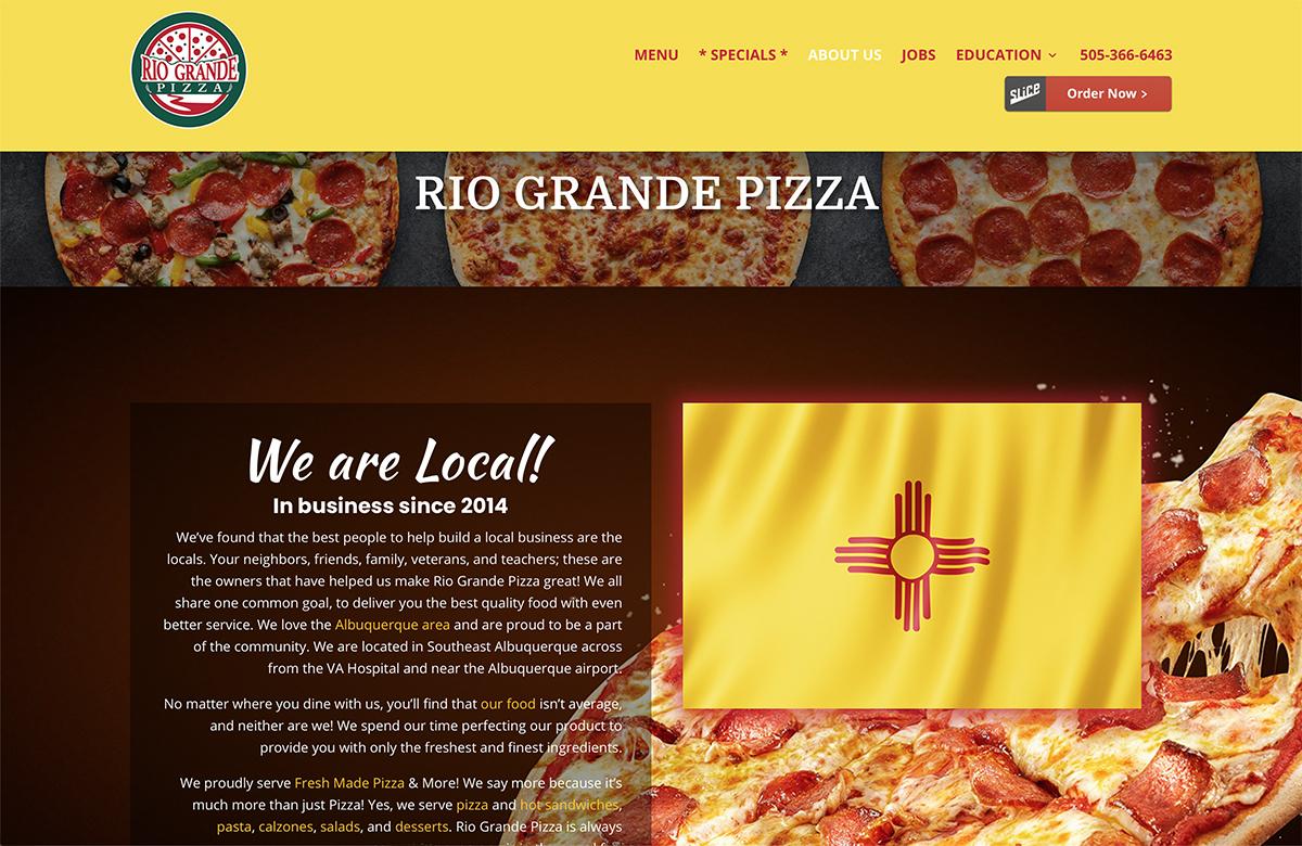 Website Designs 36 Rio Grande Pizzaq Website Snap
