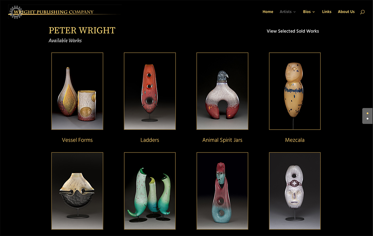 Client Websites 6 Wright Publishing Bronzes Website Snap