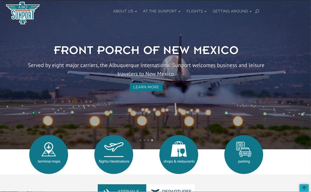 Website Designs 1 ABQSunport Website Snap 1024x631 1